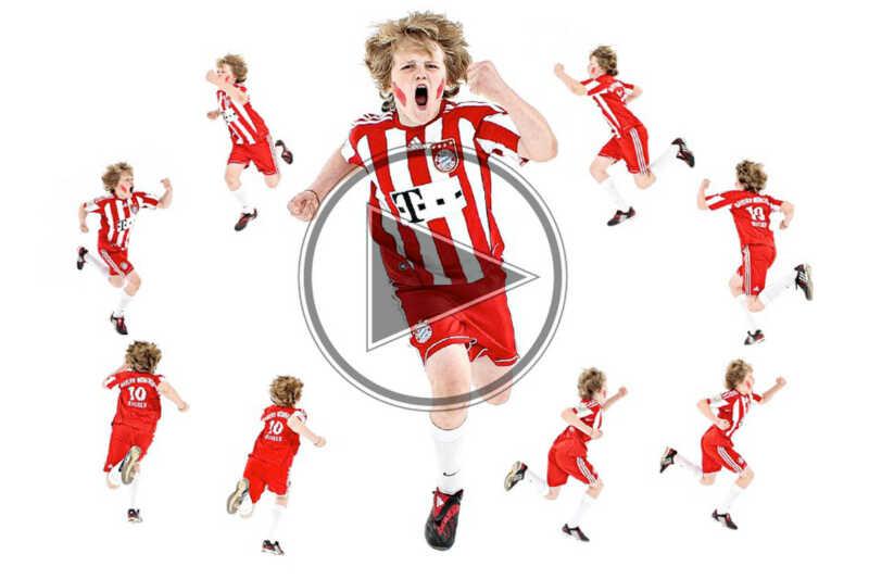 ein junger fussballspieler wurde in 360 grad aufgenommen. 24 kameras fotografierten simultan von allen seiten.die komplette ineraktivität ist via html 5 technik realisiert und somit auf allen apple endgeräten problemlos darstellbar.