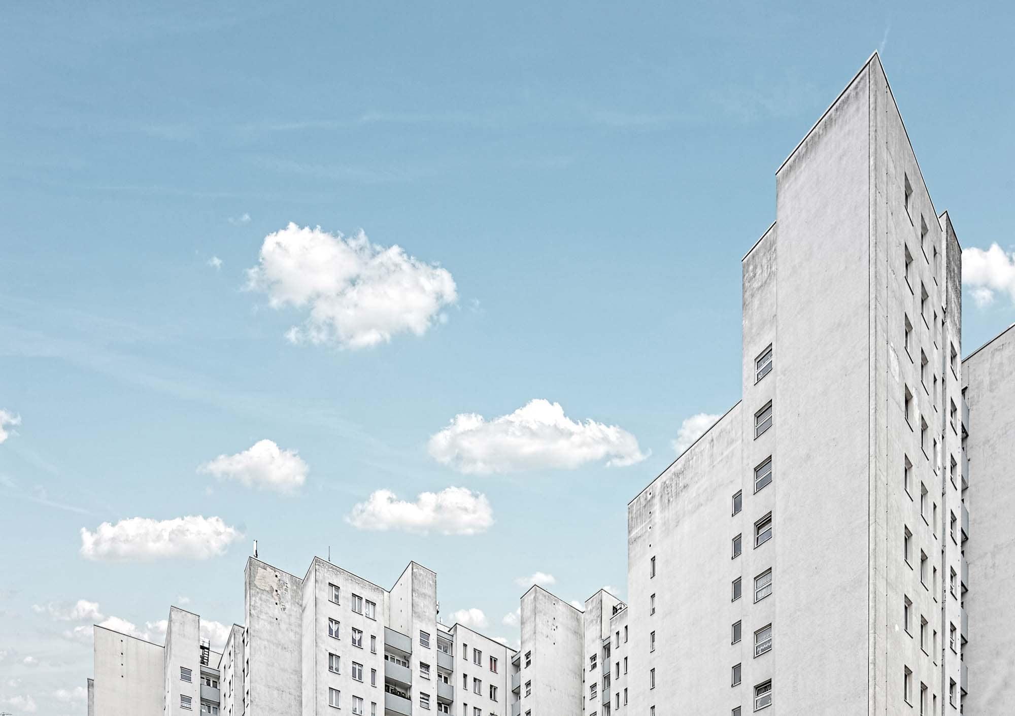 architekturfotografie hier von einer kulisse in berlin marzahn.