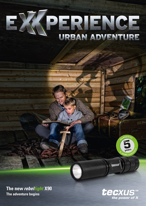 werbefotografie für den hersteller hochwertiger taschenlampen