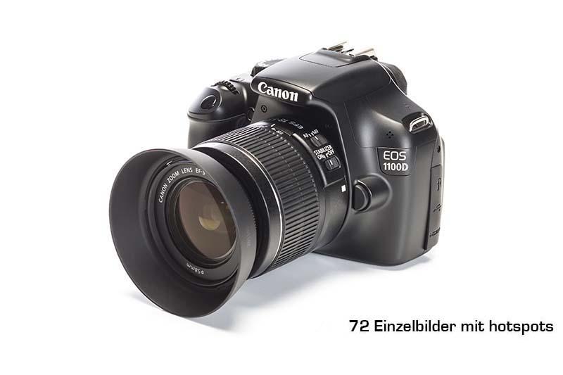 360 grad fotografie einer kamera mit hotspots